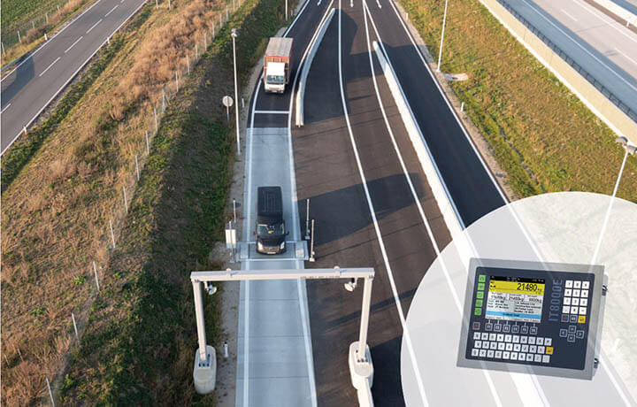 Dynamic truck scales with SysTec weighing electronics