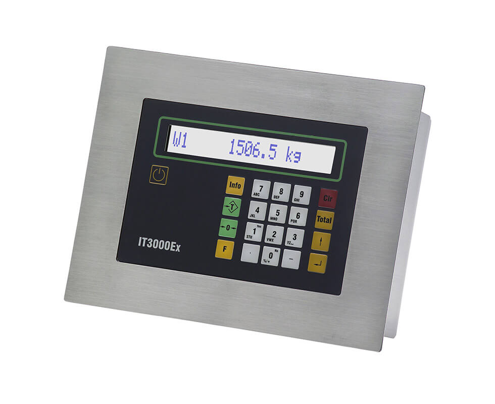 Weight indicator for ATEX zones 1, 2, 21, 22